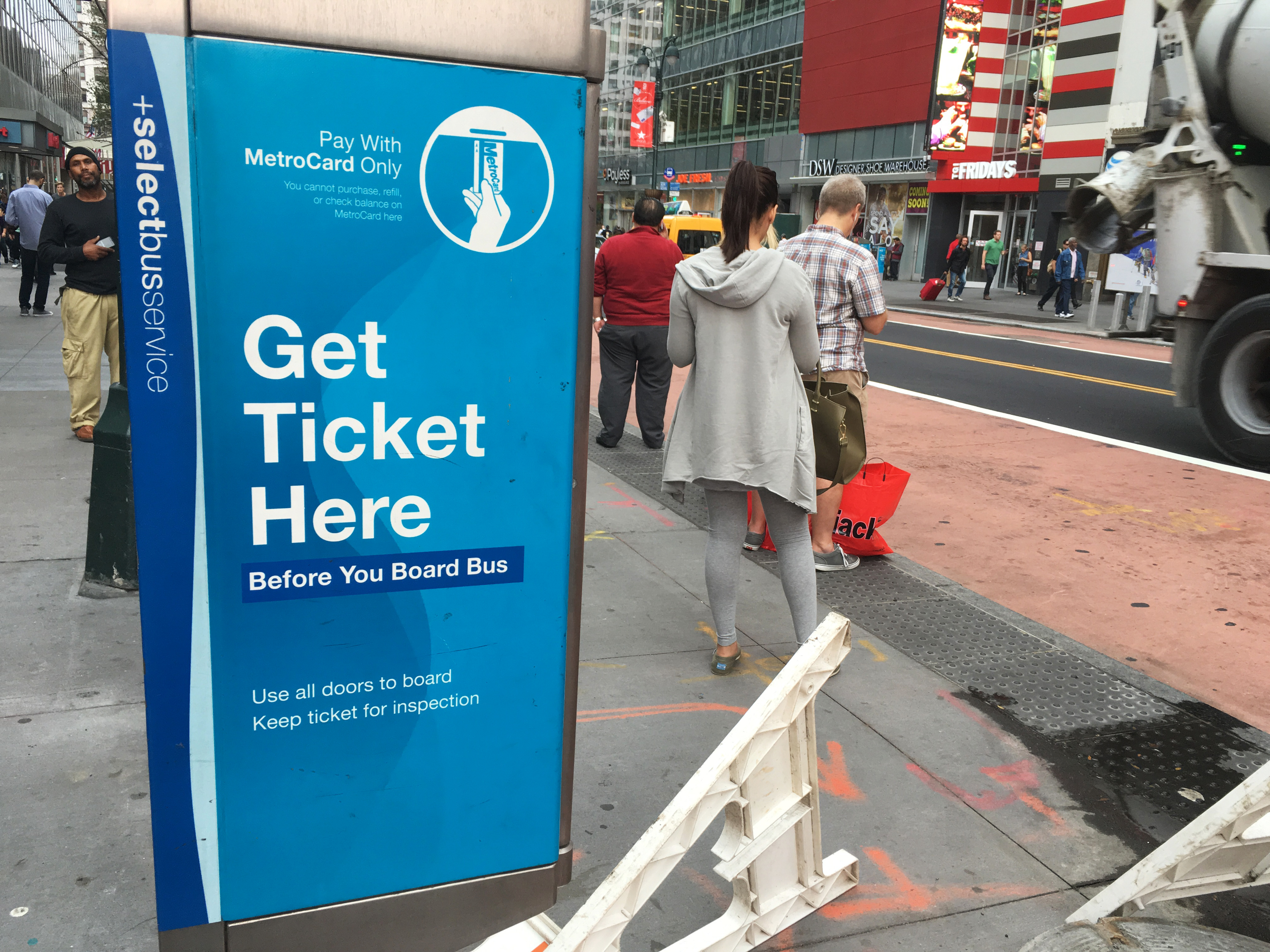 Select bus service on 34th Street, Manhattan